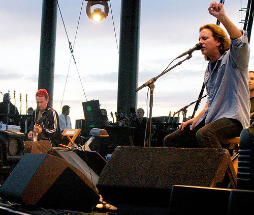 Pearl Jam at the Gorge in 2005. Photo by Steven Friederich